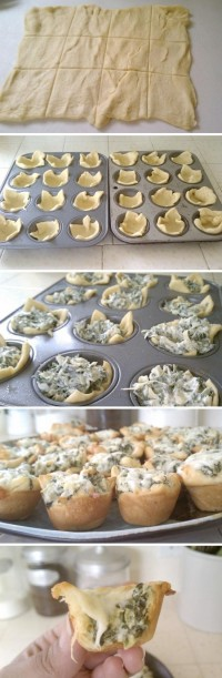 Spinach Artichoke Bites Food Pix | Recipe by Picture