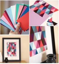 DIY Paint Chip Wall Art DIY Projects | UsefulDIY.com
