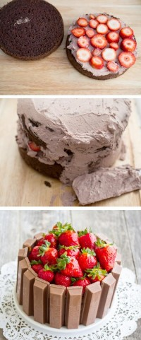 Strawberry Kit Kat Cake Food Pix | Recipe by Picture