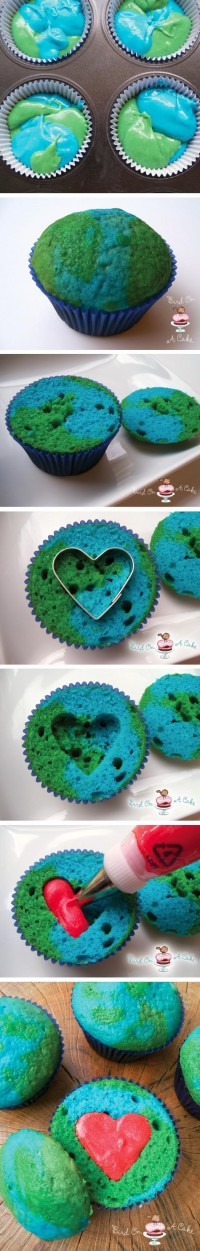 Earth Day Cupcakes Food Pix | Recipe by Picture