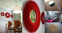 DIY Plastic Spoon Chrysanthemum Mirror DIY Projects | UsefulDIY.com
