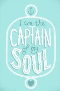I am the Captain of my Soul Art Print by Wharton | Society6