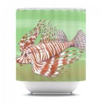 "Catherine Holcombe ""Fish Manchu"" Shower Curtain | KESS InHouse"