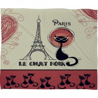 DENY Designs Home Accessories | Belle13 Le Chat Noir Fleece Throw Blanket