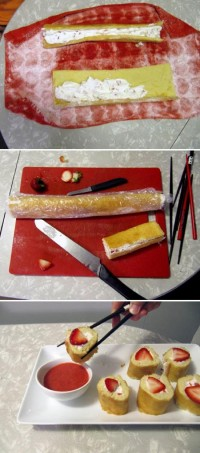 Strawberry Shortcake Sushi Food Pix   Recipe by Picture