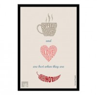 Coffee Love quote Typographic print art Modern art by LabNo4