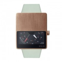 Fancy - VOID V02 Analogue Watch - Brushed Copper on Gray Strap