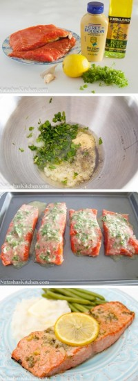 Garlic and Dijon Baked Salmon Food Pix | Recipe by Picture