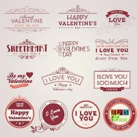 Vector - Vintage Valentine's day labels | EPS VECTOR BLOG
