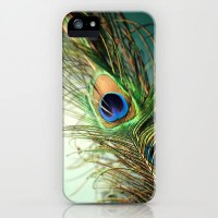 peacock feather-teal iPhone & iPod Case by Sylvia Cook Photography | Society6