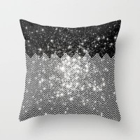 Chevron Universe Throw Pillow by Belle13 | Society6