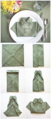 DIY Shirt Napkin Fold DIY Projects | UsefulDIY.com