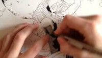 Drawing with real Screentones - YouTube
