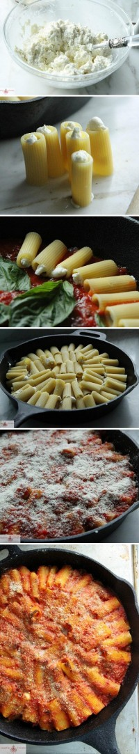 Skillet Baked Stuffed Rigatoni Food Pix | Recipe by Picture