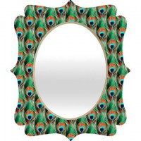 DENY Designs Home Accessories | Belle13 Peacock Eye Pattern Quatrefoil Mirror