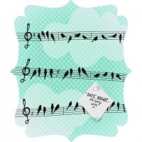 DENY Designs Home Accessories | Belle13 Musical Nature Quatrefoil Magnet Board