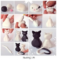 DIY Clay Cute Cat DIY Projects | UsefulDIY.com