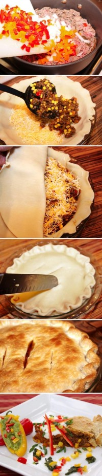 Taco Pie Food Pix   Recipe by Picture