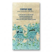 Vintage Flower Carriage Business Cards from Zazzle.com
