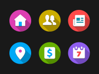 Icons for a cool project :) by André Gonçalves