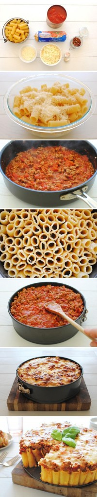 Pasta Pie Food Pix | Recipe by Picture