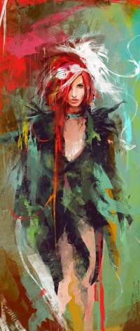 Vividly Messy Digital Paintings from Muju | inspirationfeed.com
