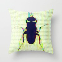 12 Flies Throw Pillow by pascal | Society6