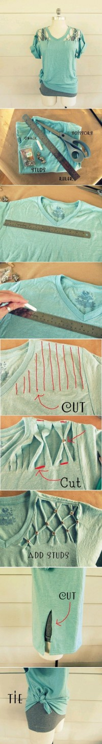 DIY Cool Studded T-Shirt DIY Projects | UsefulDIY.com