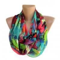 neon infinity women scarf summer spring fashion by seno on Etsy