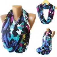 neon colorful infinity scarf trendscarf girly girl by seno