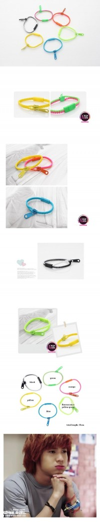 [SH70] SHINee Simple Zipper Bracelet