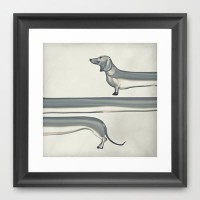 SAUSAGE DOG Framed Art Print by M?nika Strigel | Society6