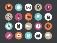 Flat Icons by Curt Rice