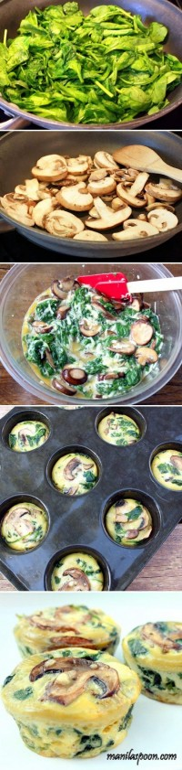 Spinach Egg Cups Food Pix | Recipe by Picture
