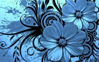 Blue flowers clipart |