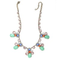 Deco Statement Necklace Multicolor Crystal Resin Boho Necklaces from okajewelry on Storenvy