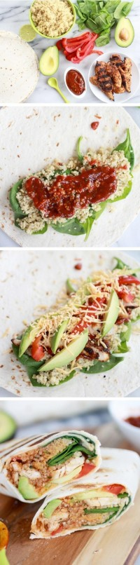 Tex-Mex Chicken and Quinoa Wraps Food Pix | Recipe by Picture