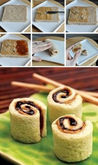 Peanut Butter and Jelly Sushi Food Pix | Recipe by Picture