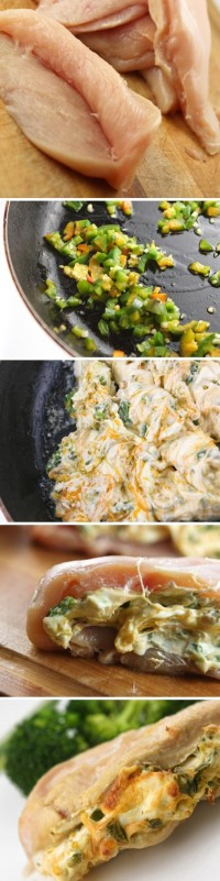 Jalapeño Cream Cheese Stuffed Chicken Food Pix | Recipe by Picture