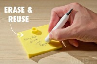 Erasable Memo Pad: Jot down and erase notes with the included pen
