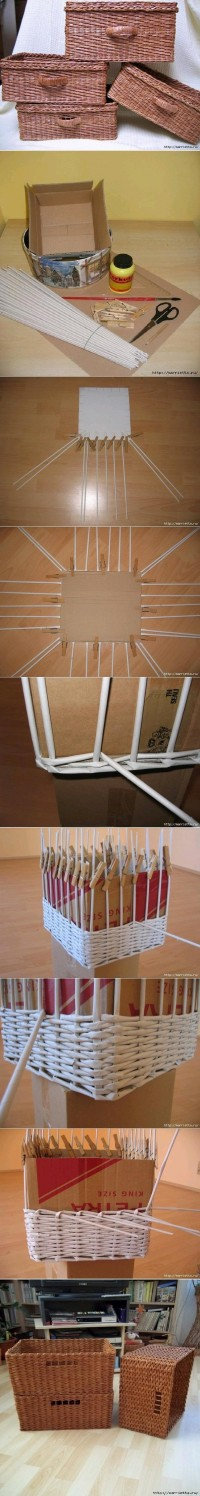 DIY Newspaper Weave Basket DIY Projects | UsefulDIY.com
