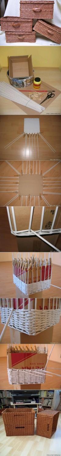 DIY Newspaper Weave Basket DIY Projects | UsefulDIY.com
