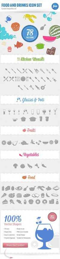 Food Icons Free PSD Set | Free PSD Files