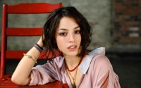 brunettes women brown eyes chairs open mouth faces Olivia Thirlby - Wallpaper (#2796706) / Wallbase.cc