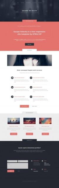 Free Responsive Portfolio Web Template: Escape Velocity | Ginva