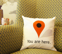 You Are Here Pillow Uncovet