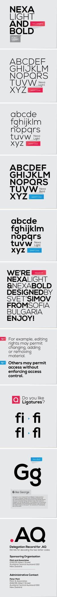 Nexa Free Font - Designer First