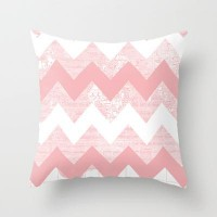 Her Pink Chevron World Throw Pillow by Catherine Holcombe | Society6