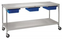 Stainless steel work table (on casters) - CDS-2472 , CDS-3260 , CDS-3684 - Pedigo