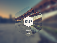 Hexa Time Widget by Alex Paxton